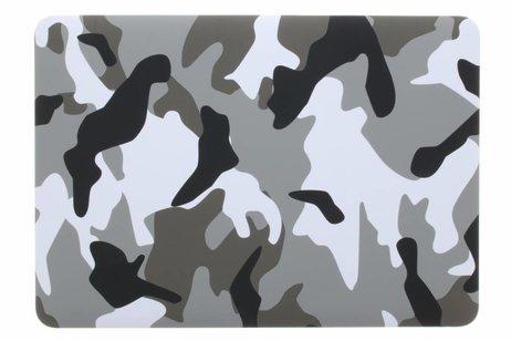 MacBook Air 13.3 inch hoesje - Grijze legerprint design hardshell