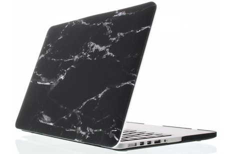 MacBook Pro Retina 15.4 inch (2013-2017) hoesje - Zwarte marmer design hardshell