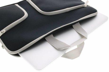 Zwarte universele neopreen laptoptas voor de MacBook 13.3 inch