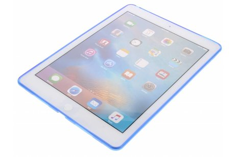 iPad Pro 9.7 hoesje - Blauwe x-line TPU tablethoes