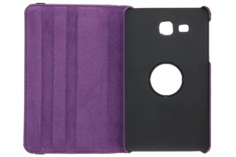 iPad Pro 9.7 hoesje - Paarse 360º draaibare polka