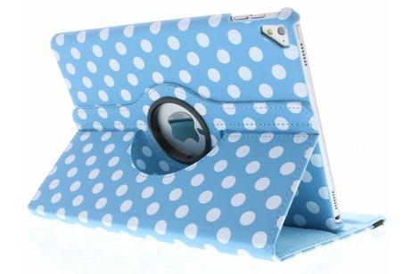 iPad Pro 9.7 hoesje - Lichtblauwe 360º draaibare polka