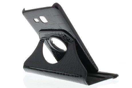 Samsung Galaxy Tab A 7.0 (2016) hoesje - Zwarte 360º draaibare krokodil