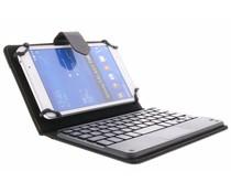 Zwarte universele 7 inch booktype hoes met toetsenbord