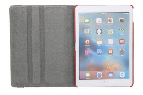 iPad Pro 9.7 hoesje - 360° draaibare rode bloemen