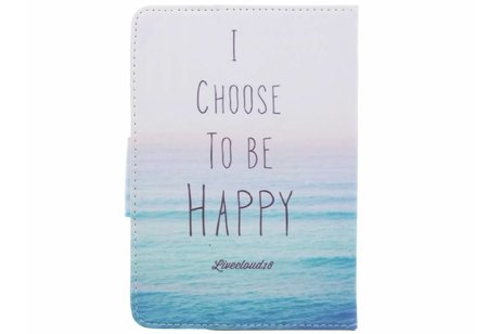 Universele happy design tablethoes voor 8 inch