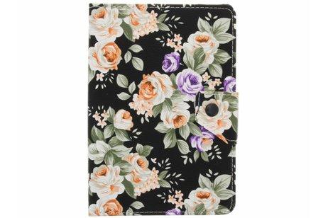 Universele bloemen design tablethoes voor 8 inch
