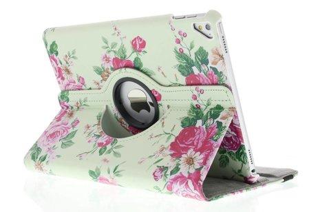 iPad Pro 9.7 hoesje - 360° draaibare roosjes design