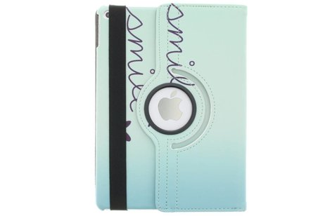 iPad Air 2 hoesje - 360° draaibare smile design
