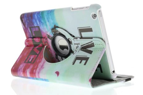360° draaibare live the life design tablethoes voor de iPad Mini / 2 / 3