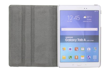 Samsung Galaxy Tab A 9.7 hoesje - 360° draaibare smile design