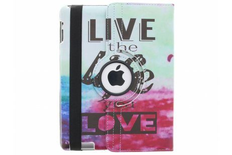 360º draaibare live the life design tablethoes voor de iPad 2 / 3 / 4