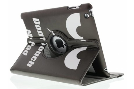360° draaibare don't touch design tablethoes voor de iPad 2 / 3 / 4