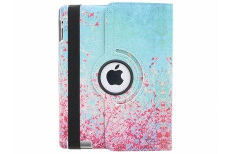360° draaibare bloesem design tablethoes voor de iPad 2 / 3 / 4
