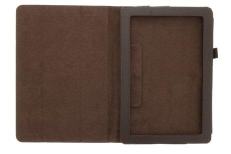 hoesje - Bruine effen tablethoes voor