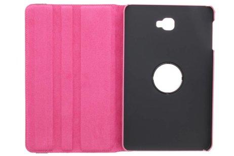 Samsung Galaxy Tab A 10.1 (2016) hoesje - Roze 360° draaibare polka