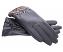 Echt lederen touchscreen handschoenen - maat L