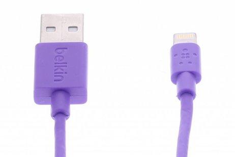 Belkin Lightning naar USB-kabel 1,2 meter - Paars