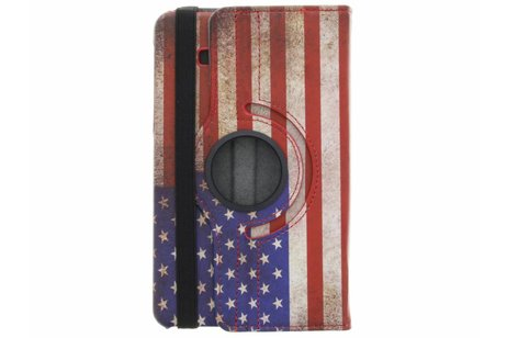 Samsung Galaxy Tab A 7.0 (2016) hoesje - 360° draaibare Amerikaanse vlag