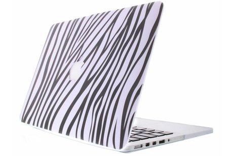 MacBook Air 13.3 inch hoesje - Zebra design hardshell voor