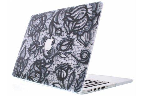 MacBook Air 13.3 inch hoesje - Bloemen design hardshell voor