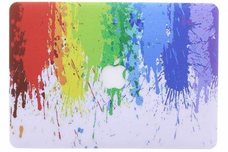MacBook Air 13.3 inch hoesje - Verf design hardshell voor