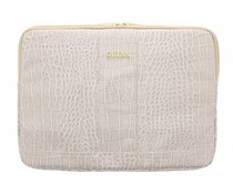 Guess Universele Croco Sleeve Case 15 inch - Beige