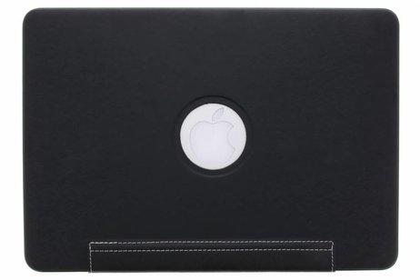 MacBook Air 13.3 inch hoesje - Zwarte brushed hardshell voor