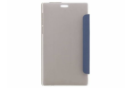 hoesje - Donkerblauwe brushed tablethoes Lenovo