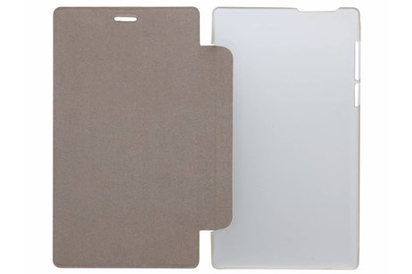 hoesje - Witte brushed tablethoes Lenovo
