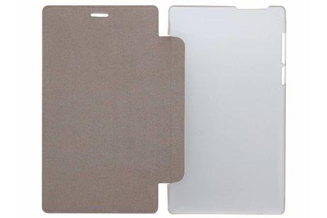 hoesje - Bruine brushed tablethoes Lenovo