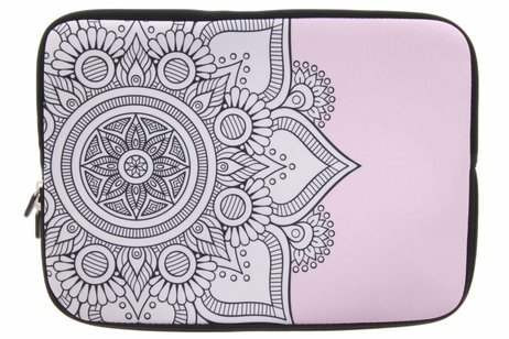 Universele zwarte mandala design sleeve 10 inch