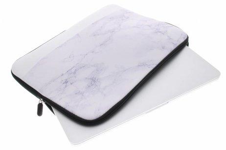 Universele witte marmer design sleeve 10 inch