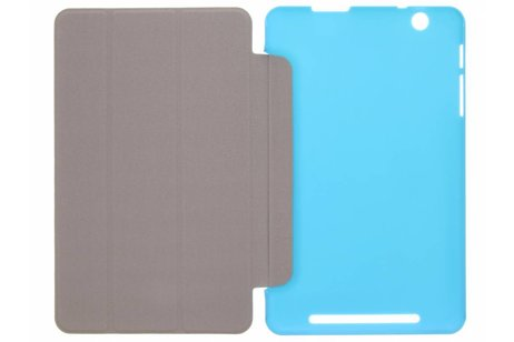 Acer Iconia One 8 B1 810 hoesje - Blauwe Book Cover voor