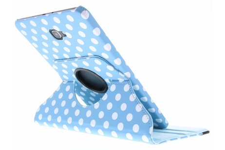 Samsung Galaxy Tab A 10.1 (2016) hoesje - Lichtblauwe 360° draaibare polka