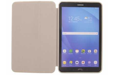 Samsung Galaxy Tab A 10.1 (2016) hoesje - Witte Basic Book Cover