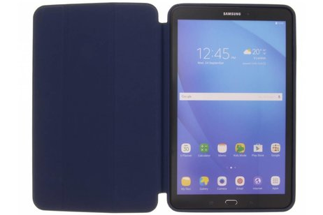 Samsung Galaxy Tab A 10.1 (2016) hoesje - Donkerblauwe Basic Book Cover