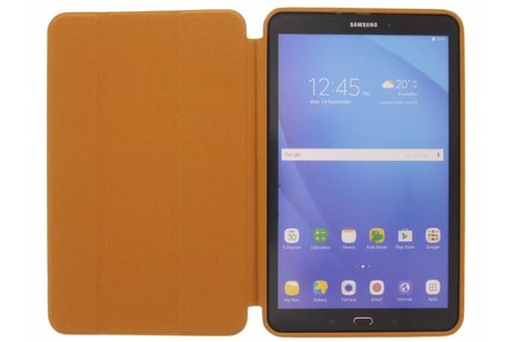 Samsung Galaxy Tab A 10.1 (2016) hoesje - Bruine Basic Book Cover