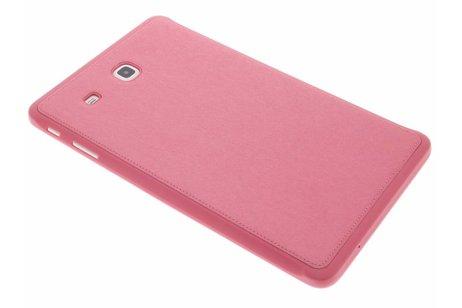 Samsung Galaxy Tab E 9.6 hoesje - Roze brushed TPU cover