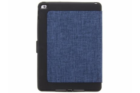 iPad Air 2 hoesje - Blauwe Extreme Canvas Bookcase