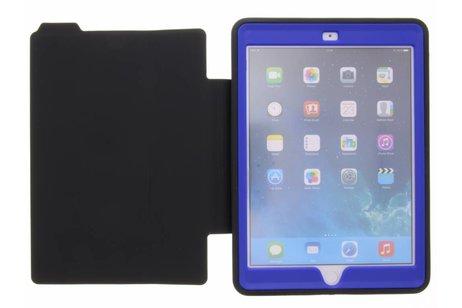 iPad Air 2 hoesje - Blauwe defender protect case