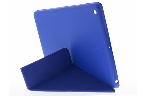 iPad (2017) hoesje - Blauwe Flipstand Cover voor