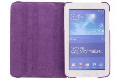 Samsung Galaxy Tab 3 Lite 7.0 hoesje - Paarse 360° draaibare krokodil