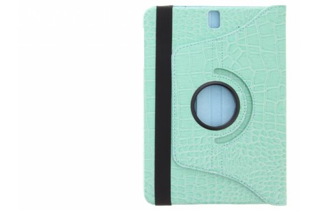 Samsung Galaxy Tab S3 9.7 hoesje - Turquoise 360° draaibare krokodil