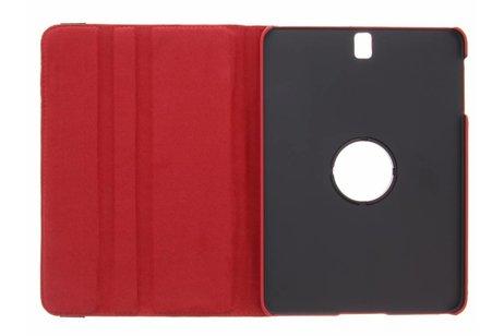 Samsung Galaxy Tab S3 9.7 hoesje - Rode 360° draaibare krokodil