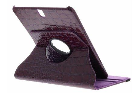 Samsung Galaxy Tab S3 9.7 hoesje - Paarse 360° draaibare krokodil