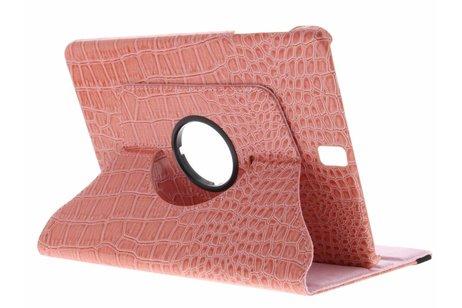 Samsung Galaxy Tab S3 9.7 hoesje - Roze 360° draaibare krokodil