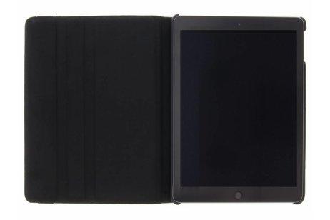 Zwarte 360° draaibare krokodil tablethoes voor de iPad (2018) / (2017)