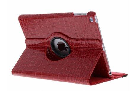 Rode 360° draaibare krokodil tablethoes voor de iPad (2018) / (2017)