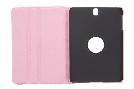 Samsung Galaxy Tab S3 9.7 hoesje - Roze 360° draaibare polka